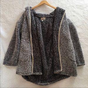Urban Outfitters Shaina Grey Teddy Coat